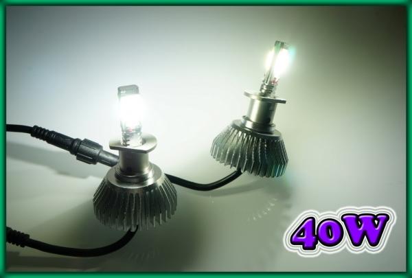 H1 COB LED Headlight / Foglight Bulbs 40W 6000K 2400LM