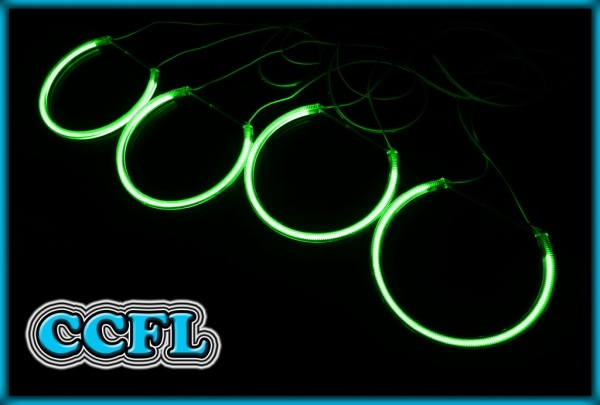 BMW E46 98-05 PROJECTOR CCFL Angel Eyes Rings GREEN