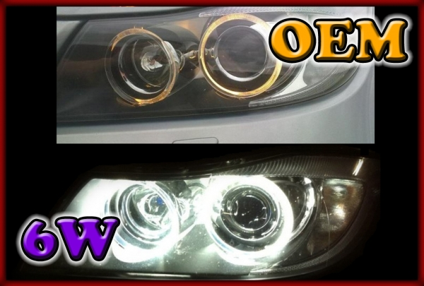BMW E70 X5 07-13 HALOGEN, E71/E72 X6 08-14 HALOGEN 6W LED Markers WHITE