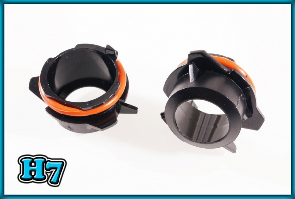 BMW E39 95-03, E53 X5 99-06 H7 HID Xenon Headlight Bulb Adapters Holders