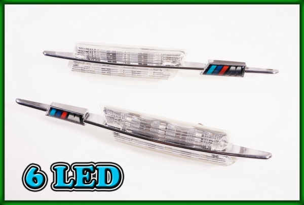 BMW E60 E61 03-10, F10 F11 F18 09-, E84 X1 09-15 SMD LED CLEAR Side Markers Turn Indicators