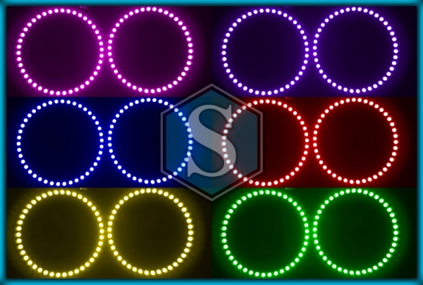 BMW E46 03-06 2D coupe / cabrio RGB LED MULTICOLOUR Angel Eyes Halo Rings
