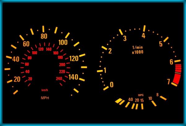 BMW E39 95-03 US 140MPH BLACK/AMBER EL Plasma Glow Gauges Speedo Cluster Dials