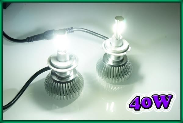 H7 COB LED Headlight / Foglight Bulbs 40W 6000K 2400LM