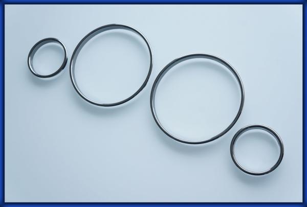 BMW E38 94-01, E39 95-04, E53 X5 99-06 Gauge Rings BLACK CHROME