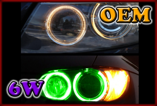 BMW E81 07-12, E82 07-, E87 07-11, E88 07- 6W LED Markers GREEN