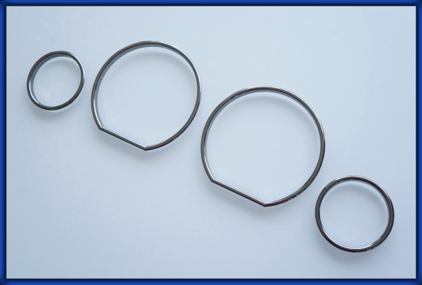 BMW E36 91-99 3 series Gauge Rings BLACK CHROME