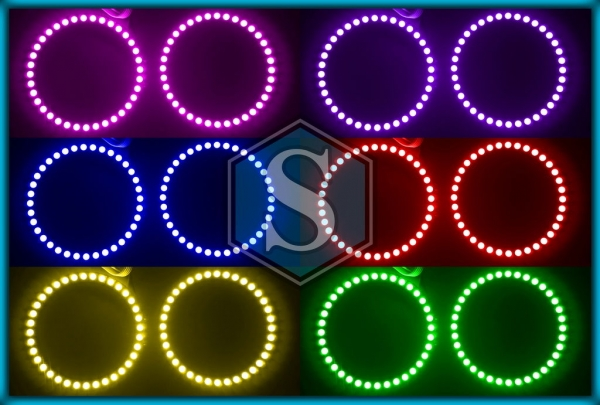 BMW E85 / E86 Z4 02-08 RGB LED MULTICOLOUR Angel Eyes Halo Rings