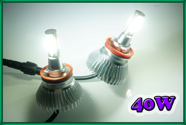 H8 / H11 COB LED Headlight / Foglight Bulbs 40W 6000K 2400LM