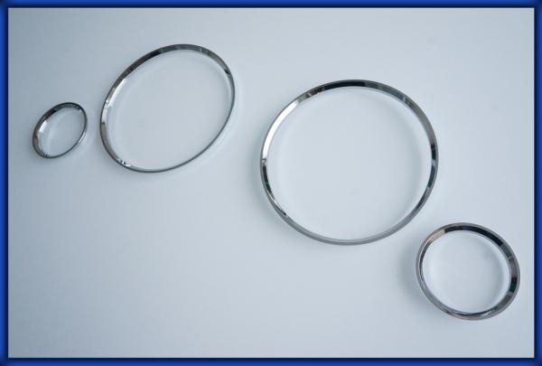 AUDI 80 90 (B3) (B4) 86-96 Gauge Rings CHROME