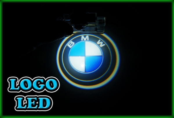 "BMW E39 95-03, E52 Z8 99-03, E53 X5 99-06 3D Logo ""BMW"" Door Courtesy Puddle Lights"