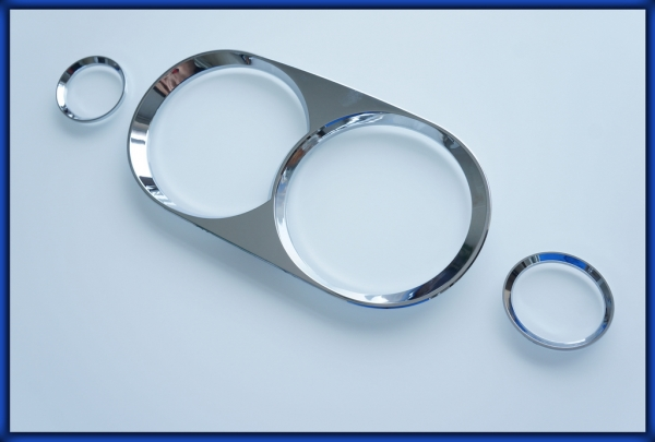 NISSAN S14 200SX 240SX ZENKI 95-96 Gauge Rings CHROME