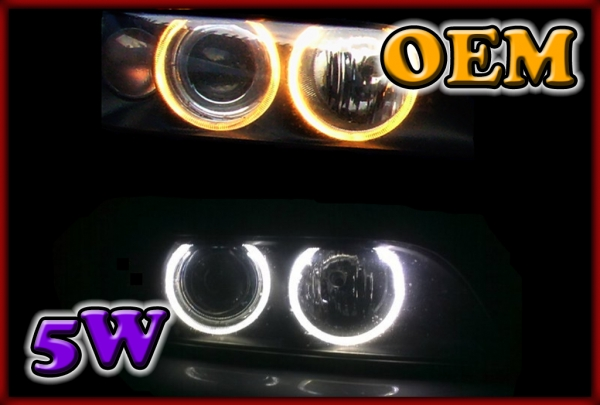 BMW E39 01-03, E60/E61 02-07, E63/E64 02-06, E87 03-07 5W LED Markers WHITE