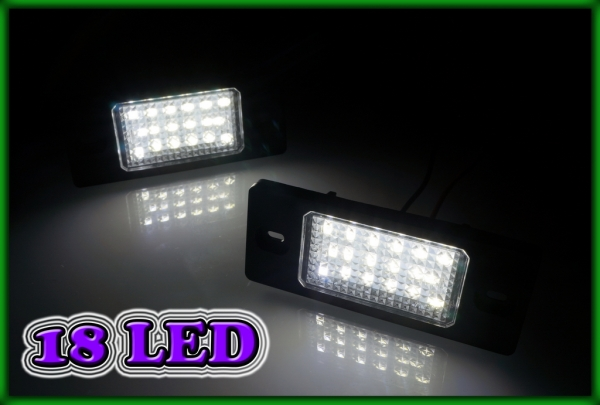VW Touareg MK1 7L 02-10, Tiguan 5N 07-13 SMD LED Licence Plate Light