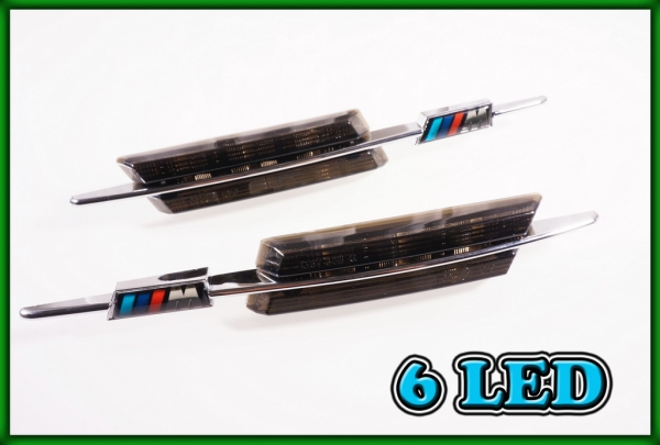 BMW E60 E61 03-10, F10 F11 F18 09-, E84 X1 09-15 SMD LED SMOKED Side Markers Turn Indicators