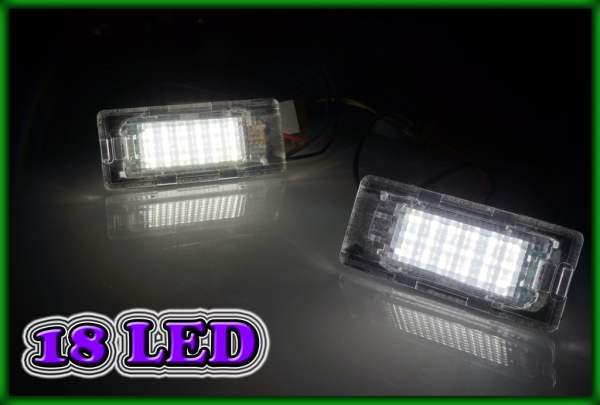 SKODA Octavia MK3 5E 13-, Fabia MK3 NF 15- SMD LED Licence Plate Lights