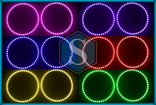 BMW E30 82-94, E32 86-94, E34 88-96 RGB LED MULTICOLOUR Angel Eyes Halo Rings