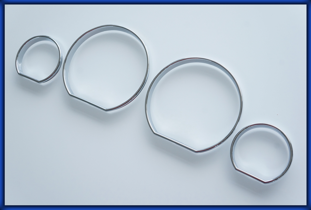 Bmw E46 99 05 3 Series Gauge Rings Chrome E46 3 Series