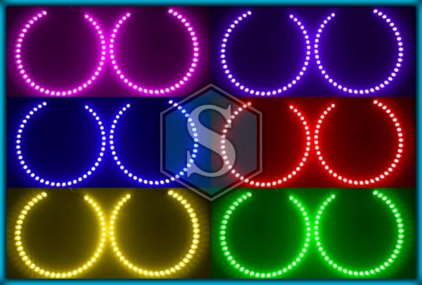 BMW E39 96-03 PROJECTOR RGB LED MULTICOLOUR Angel Eyes Halo Rings