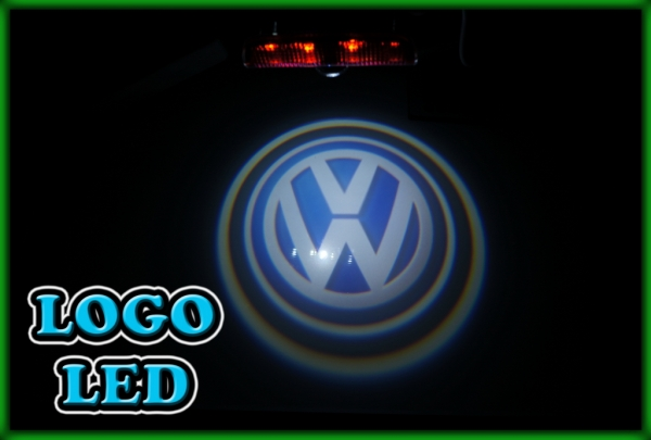 VW Passat B6 06-11, B7 11-15, B8 15-, CC 09- 3D Logo Door Courtesy Puddle Warning Light
