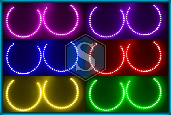 BMW E36 91-99, E38 94-01, E39 95-00 HALOGEN RGB LED MULTICOLOUR Angel Eyes Halo Rings