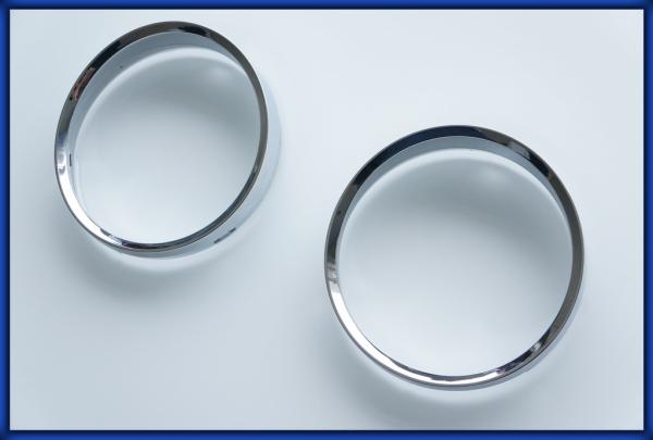 BMW E60 E61 5 series 03-10 Gauge Rings CHROME