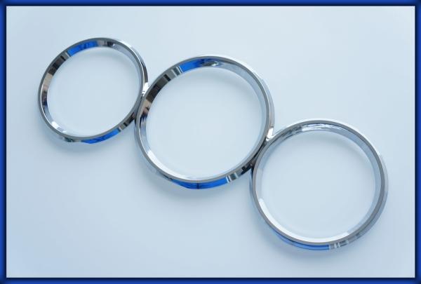 NISSAN S15 200SX JDM 99-02 Gauge Rings CHROME